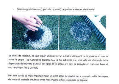 Asesoramiento y mantenimiento del campo de fútbol – Riudellots de la Selva